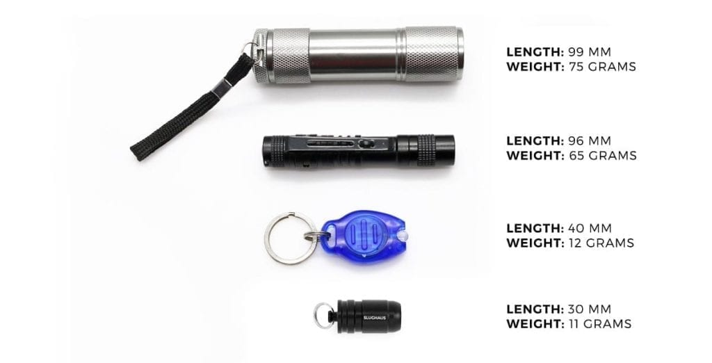 Bullet micro flashlight comparison