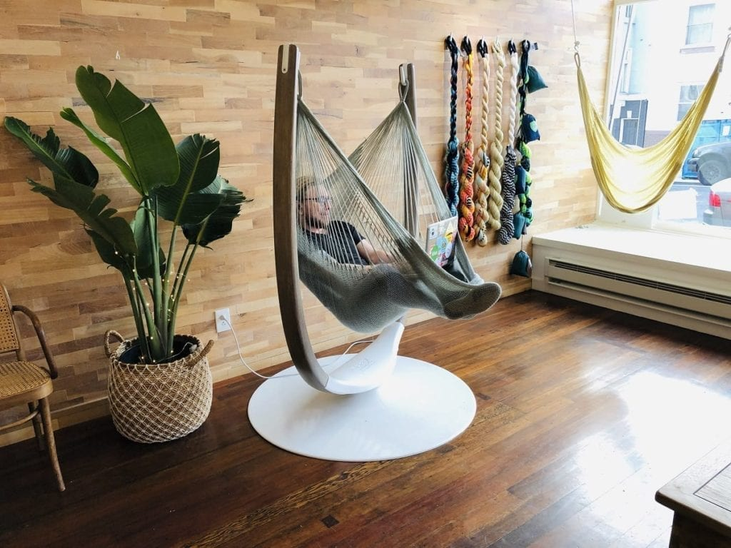 the Hammock throne relaxation nook